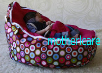 Wholesale 2 Top covers NEW Baby Toddler Kids Portable Bean Bag Seat baby beanbag chair traditional polka