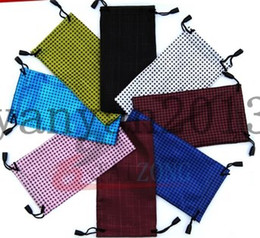 Wholesale new DHL waterproof leather plastic sunglasses pouch soft eyeglasses bag glasses case many colors mixed