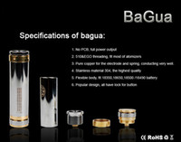 1650mah 900-1700 puffs more than 400 times bagua clone Stainless Steel BaGua mod ecigarette ba gua mod ecig chi you ba-gua series mechanical mod factory sale DHL