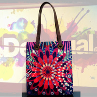 Cheap 2014 New Style Desigual women handbag Canvas Printed Shopping bag Messenger Bag Shoulder bag Free Shipping AA++