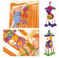 Cheap 1pieces retail baby toddler lovely plush stuffed animal soft toys hang bed - cow and deer