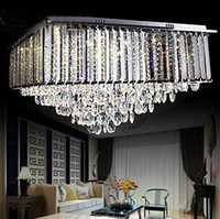 Cheap Crystal Light Square Upscale Living Room Luxury Living Room Modern Minimalist Living Room Chandelier Ceiling LED Lighting New
