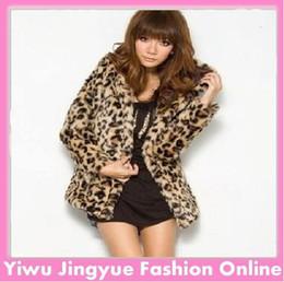 2014 New fashion Faux fur coat for women Leopard coat long sleeve outwear free shipping