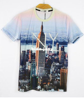 Wholesale Fashion Animal Print D T shirt D Print New York City Print shirt Man T098