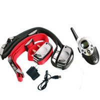 Wholesale 2 Dog Shock Training Collar w Remote Waterproof Rechargeable Yard Hunting