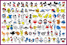 Wholesale Airbrush Tattoo Stencil Book Mickey Mouse and Donald Duck Series Designs Popular with Children Designs In One Book