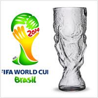 Wholesale 2014 Brazil World Cup Shape Crystal Beer Vodka Wine Beverage Trophy Hercules Glass Cup Mug Barware Drinkware T005