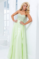 Cheap 2014 Delicate Full Beaded Bodice Sweetheart A Line Prom Dress With Long Chiffon Skirt Evening Gowns Celebrity Dress Party Dresses