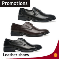 Cheap 2014 British business fashion trends Boutique mens leather dress shoes black brown colors WL-16 free shipping