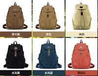 Wholesale new canvas shoulder bag ladies retro canvas backpack bag casual shoulder bag tide colors