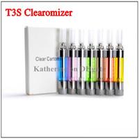 T3S Clearomizer Красочные Форсунка Сменная фильтр Переменный катушки для Ego серии E сигарета Cig Электронная сигарета T3 Обновление версии
