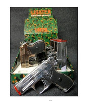 Wholesale Torch Gun Lighter with laser pointer approx size quot x2 quot Assorted color