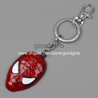toy for man - Retail Superhero Spider man The Amazing Spiderman Mask Keychain Metal Toy Pendant Fashion Key chain for Men Women ANPD1344