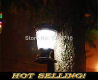 Wholesale Traditional Barn lantern Solar lawn lights led garden light decoration outdoor street lamps Highlight Retro Camp