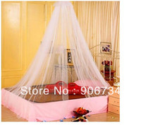 Cheap Anti-mosquito White Color Bed Canopy Netting Curtain Dome Net Outdoor Round Lace Insect