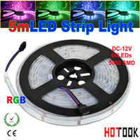 Wholesale casing pipe LED Strip Light RGB LED M LED M tiras ip67 waterproof Ribbon Flexible V key RGB Controller CE RoHS