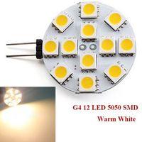 Wholesale 5050 SMD LED G4 Base Side Pin light Car Reading Bulb lamp DC AC V Pure White Warm White LED Corn Light Bulb Energy saving