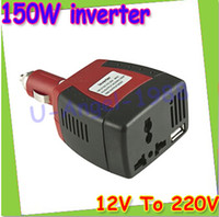 Wholesale Register DC V input voltage and AC V output W car power inverter with USB port Dropshipping