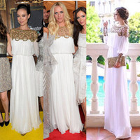 Wholesale Bling Bling Chiffon Evening Dresses with Beaded Rhinestones Embellished Long Sleeve Dubai Arabic Dresses Elegant Middle East Dress Prom Gown