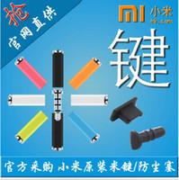 Wholesale Original Xiaomi MiKey mi key Klick quick button dustproof plug Earphone Jack Plug for XIAOMI MI3 Mi2s Hongmi NOTE Android phone Samsung