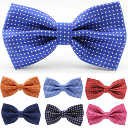 Wholesale newest dot mens south silk korea bow tie ror wedding chic woemen neckwear12 cm