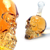 Wholesale 350ml High Quality Crystal Skull Head Vodka Shot Glass Beer Bottle Drink Ware Home Bar Party T006