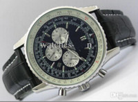 automatic chrono watch - 2014 NEW ARRIVALBR NAVITIMER AUTOMATIC CHRONO WATCH PERSONALISED BUCKLE BLACK
