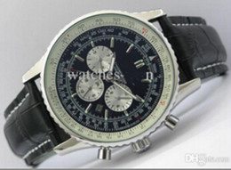 Wholesale 2014 NEW ARRIVALBR NAVITIMER AUTOMATIC CHRONO WATCH PERSONALISED BUCKLE BLACK