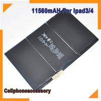 Wholesale 100 Original Internal mAh Battery Replacement Ipad Part Build in battery For iPad3 Ipad4 Battery
