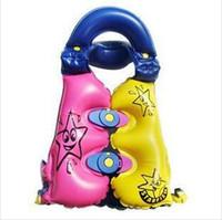 Wholesale 2 children water sports inflatable life vest innocuous PVC kids swim vest S M L