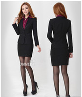 Skirt Suit career suits for women - Fashion high quality slim lady career suits women work clothes business suits nice suits for girls