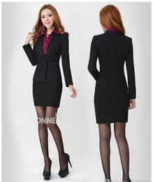 Wholesale Fashion high quality slim lady career suits women work clothes business suits nice suits for girls