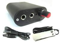 Wholesale BJT Pro DC Tattoo Power Supply foot pedal switch clip cord kit Tattoo machine gun tip