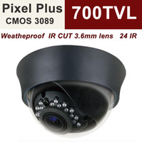 Wholesale Uinvision cctv dome camera indoor pixel plus TV line built in mm lens cut filter surveillance camera