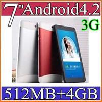 7 pouces 40PCS MP3 3G Dual Core Phone Call Tablet PC Android 4.2 MTK6572 phablet Wifi 4 Go RAM 512M Double Carte Sim slot HDMI HD à écran PB07-9