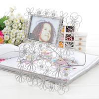 Wholesale D4 FLOWERS PHOTO FRAME PETALS ALBUMS STAINLESS HAND MADE ART CRAFTS WEDDING BIRTHDAY HOME GARDEN OFFICE GIFT PRESENT CREATIVE CUTE