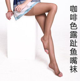 Wholesale Lady socks pecs High Quality Womens Silk Stocking Sexy Tights pantyhose toe tights Socks With Toes For Open Toe