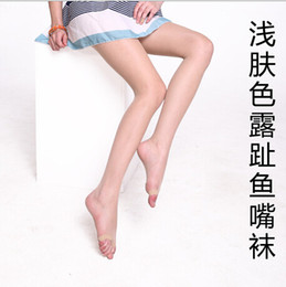 Wholesale Lady socks pecs Lady sexy fashion open toe socks Ultrathin fish mouth shoes silk stockings Leggings pantyhose
