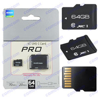 Wholesale 64gb MicroSDXC card PRO UHS I Class Micro SD SDXC SDHC TF Cards Adapter on package s4 i5 Smartphones