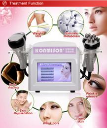 Wholesale 5 In Beauty Equipment Salon Home Use RF Vacuum Cavitation Ultrasonic Lipolysis Fat Reduction Slimming machine to Body Shaping Weight Lose