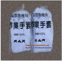 Wholesale Anti static pure cotton white gloves work gloves safety gloves cotton gloves for Hotel home factory machine