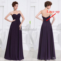 2014 Simple Bridesmaids Purple Plus Size Maid of Honor Junio...