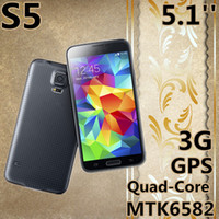 Cheap Free shipping 2014 mobile phones 1:1 5.1 inch S5 phone mtk6582 Quad-Core 1 2GB RAM 13MP Android 4.4 Smartphone 1920X1080
