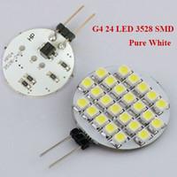 Nouveau SMD d'arrivée 3528 Ampoule G4 LED Marine lampe de voiture DC 12V Pin 24LED Accueil ampoule lampe Pure White / Warm White