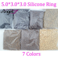micro beads - Micro Ring Loop Link Beads Silicone Beads Feather Hair Extension Tools mm mm mm bag