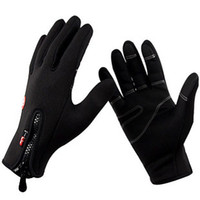 Wholesale Men Women Unisex Outdoor Ride Gloves Camping Winter Ride Ski Wind Stopper Fleece Gloves Size S M L XL Color Black