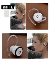 Wholesale Mini Wireless Bluetooth Headset Earphone Headphone For Cell Phone Tablet PC Iphone Samsung HTC Black White Silver Black white