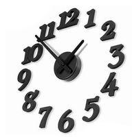 Wholesale Vintage Simple Hot Sale Digital DIY Muted Wall Clock Modern Design Home Decoration Wall Sticker Clock