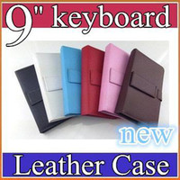 android tablet keyboard - 20PCS colours USB Keyboard Leather Case For inch Android Tablet pc Folding Leather Protective Case JP09