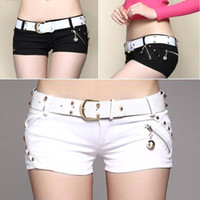 Wholesale Summer Woman Low Waist Sexy Shorts Female thin slim Hot pants night club wear C89